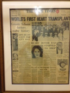 The first heart transplant represents a moment in history